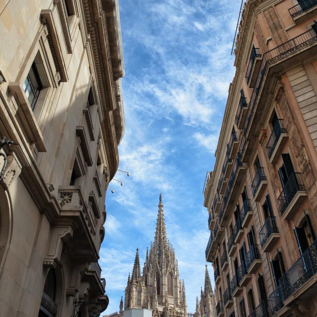 """Barcelona Urban Scenery"" stock image"