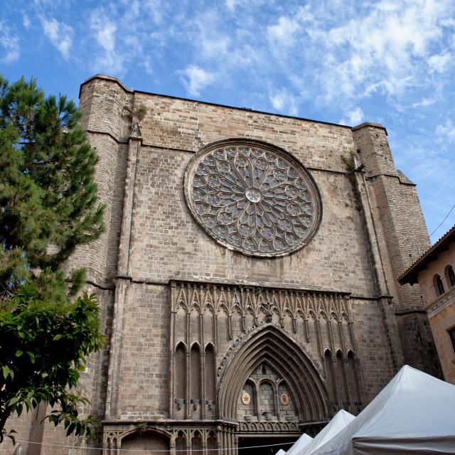 """""""Basilica of Santa Maria del Pi in Barcelona"""" stock image"""