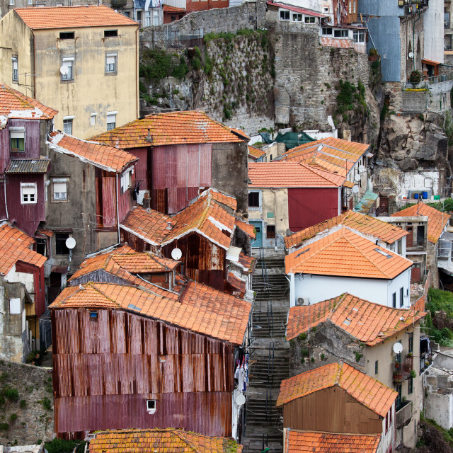 """Houses of Porto"" stock image"