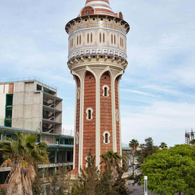 """""""Old Water Tower in Barcelona"""" stock image"""