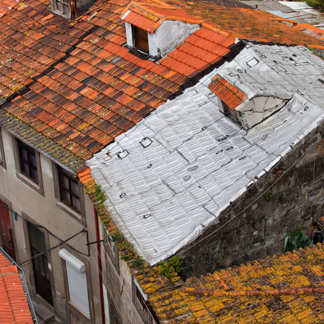 """Tiled Roofs One With Foil Insulation"" stock image"