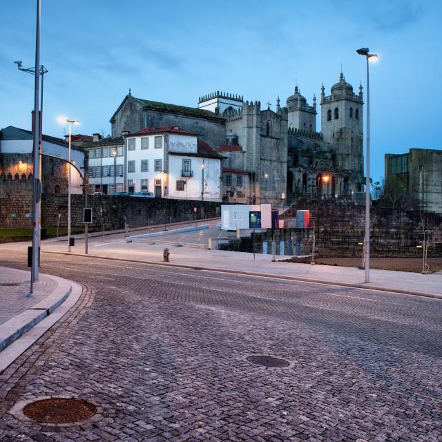 """Morning in the City of Porto in Portugal"" stock image"
