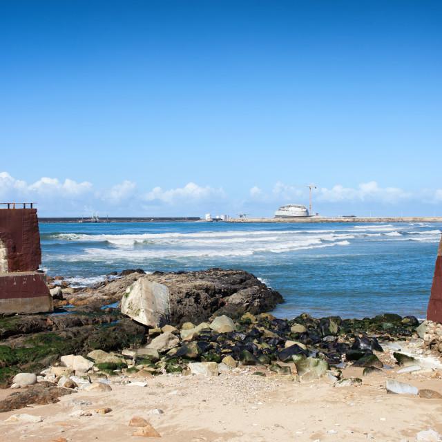 """Atlantic Ocean Coast in Porto"" stock image"