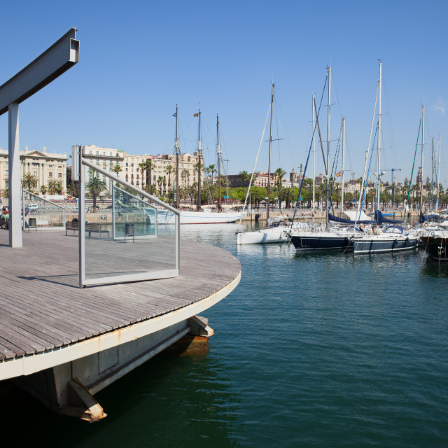 """Ramble de Mar at Port Vell in Barcelona"" stock image"