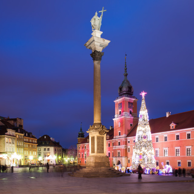 """""""Old Town of Warsaw by Night in Poland"""" stock image"""