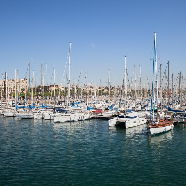 """Port Vell Marina in Barcelona"" stock image"