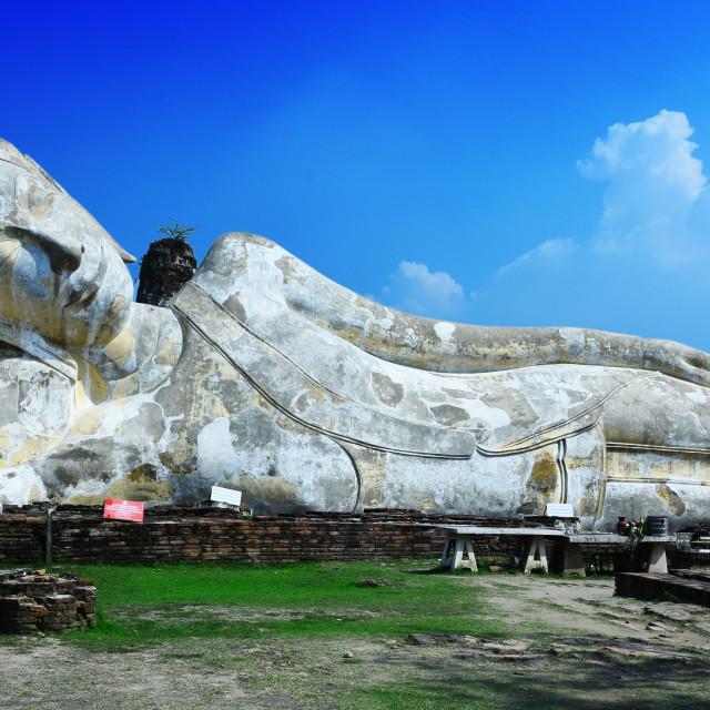 """Wat Lokayasutharam, a Buddhist temple in Ayutthaya, Thailand"" stock image"