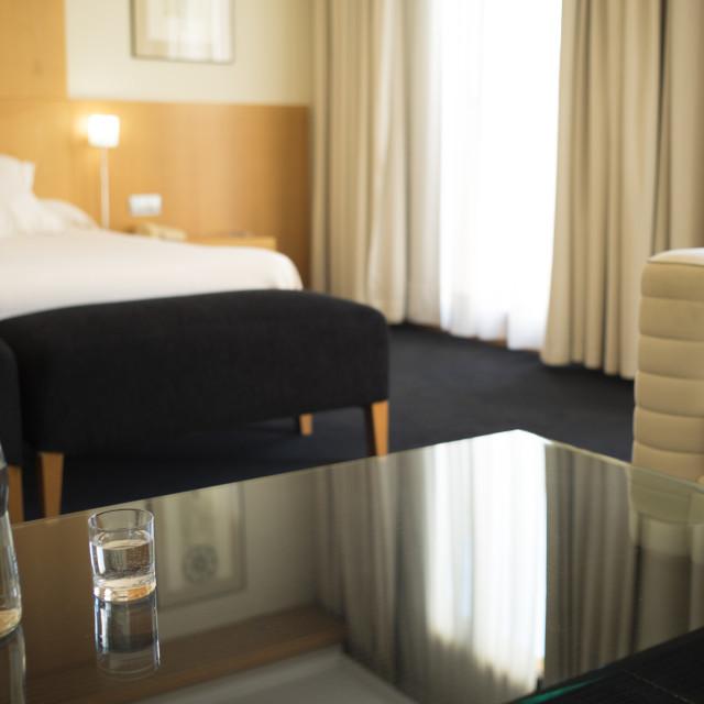"""Luxury hotel suite bedroom"" stock image"