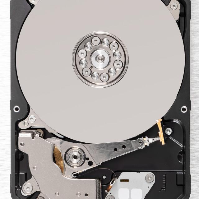 """Computer hard disk drive"" stock image"