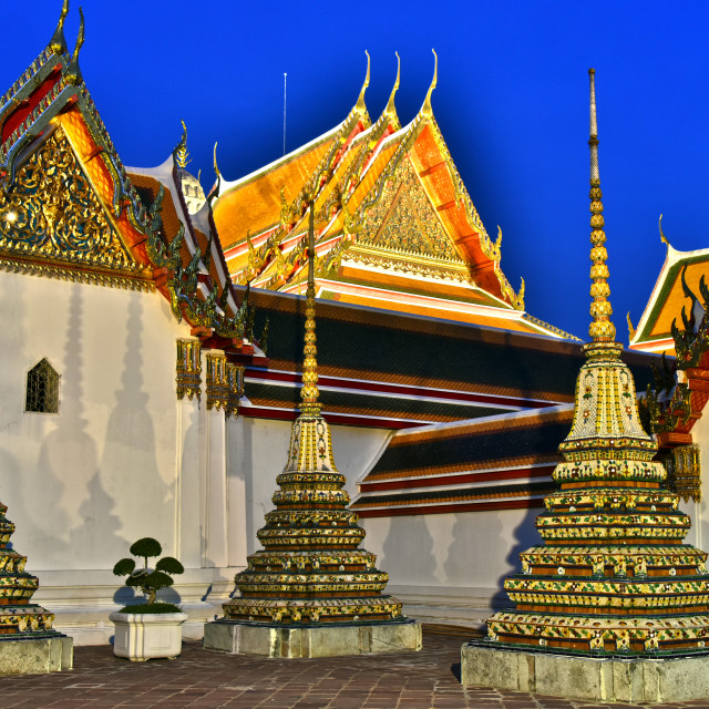 """Wat Pho or Temple of the Reclining Buddha in Bangkok, Thailand"" stock image"