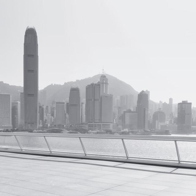 """""""Hong Kong Skyline 2+1"""" stock image"""
