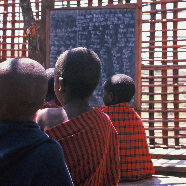 """Kenyan School House"" stock image"