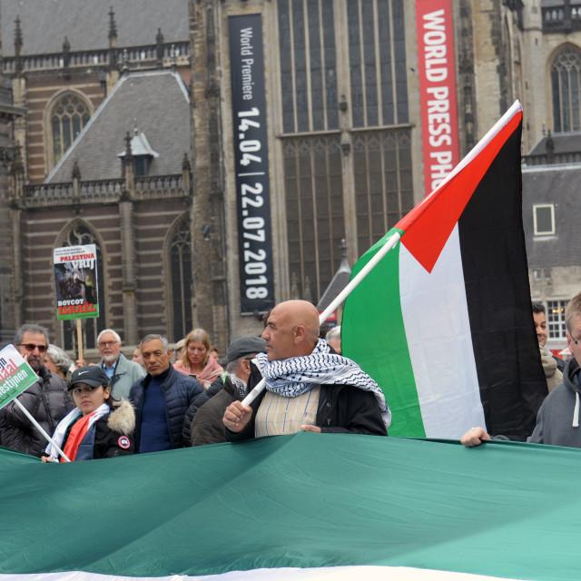 """Palestine protest Amsterdam"" stock image"