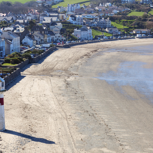 """""""Lighthouse in Port Erin on the Isle of Man"""" stock image"""
