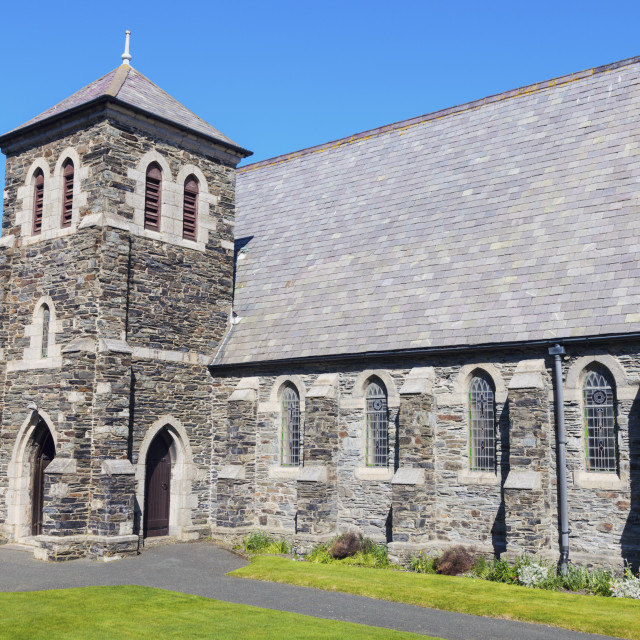 """""""Church in Port Erin on the Isle of Man"""" stock image"""