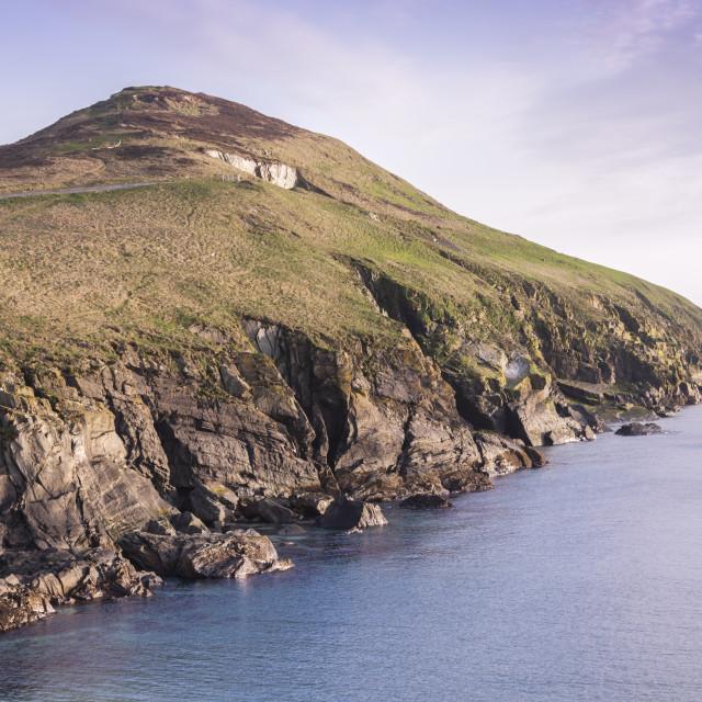 """Isle of Man landscape - Peel area"" stock image"
