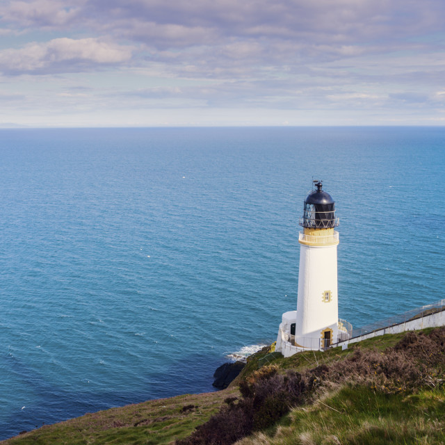 """""""Maughold Head Lighthouse on the Isle of Man"""" stock image"""