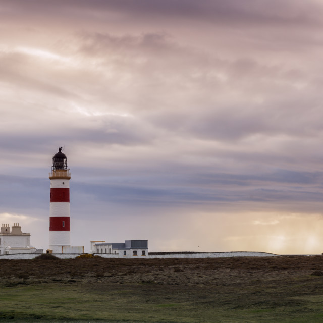 """""""Point of Ayre Lighthouse on the Isle of Man"""" stock image"""
