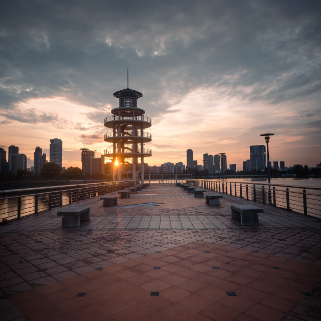 """Tanjong Rhu Lookout Tower"" stock image"