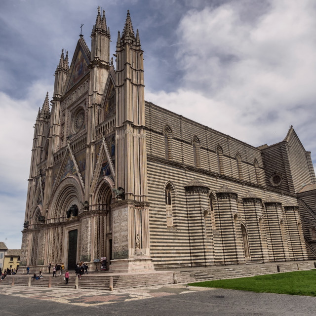 """The Cathedral duomo in Orvieto Umria"" stock image"