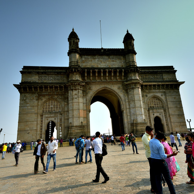 """The Gateway to India"" stock image"