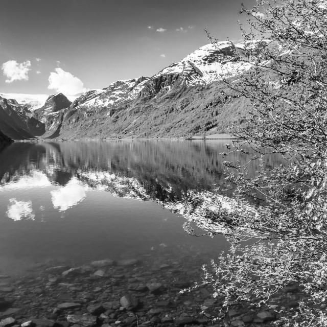 """Norway - Olden Lake"" stock image"
