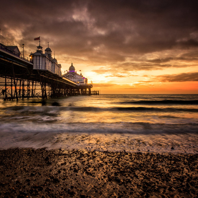 """Winter Sunrise at Eastbourne Pier"" stock image"