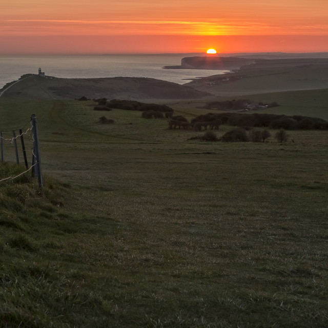 """""""South downs Sunset"""" stock image"""