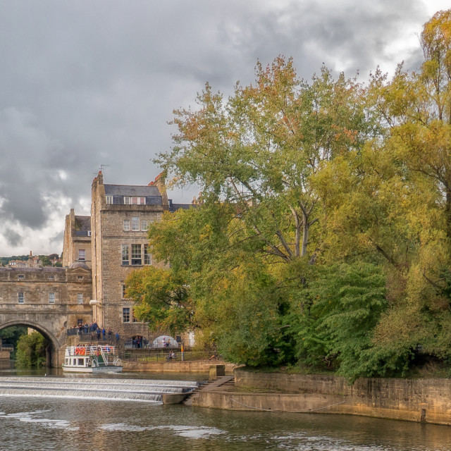 """Pultney Bridge, Bath"" stock image"