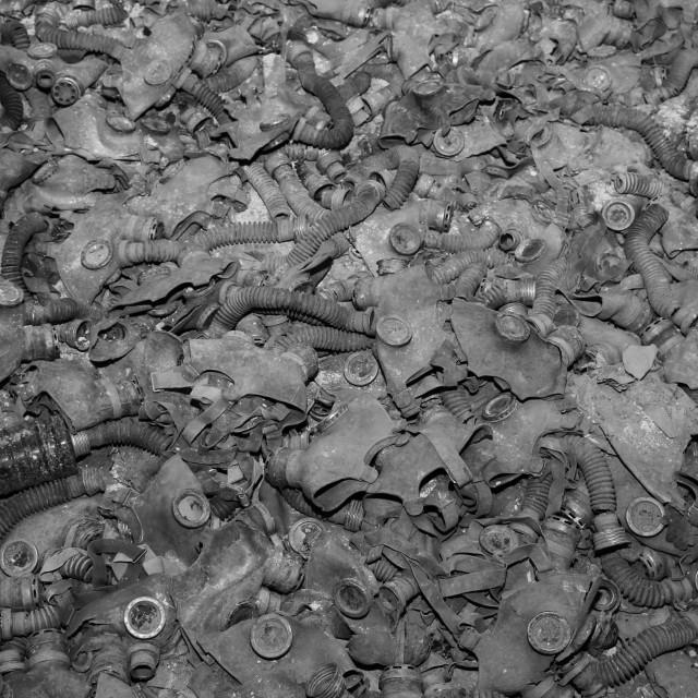 """Gas masks, Chernobyl"" stock image"