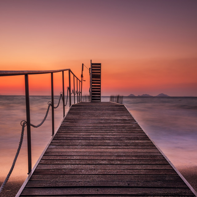 """Magical sunset in Kos"" stock image"