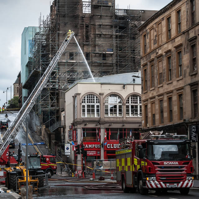 """Aftermath: Glasgow School of Art"" stock image"