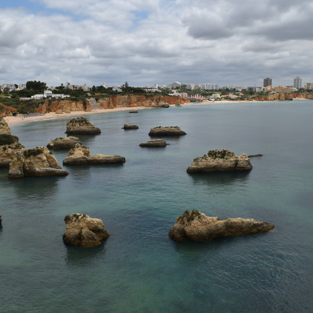 """rocky coast beach and nature"" stock image"