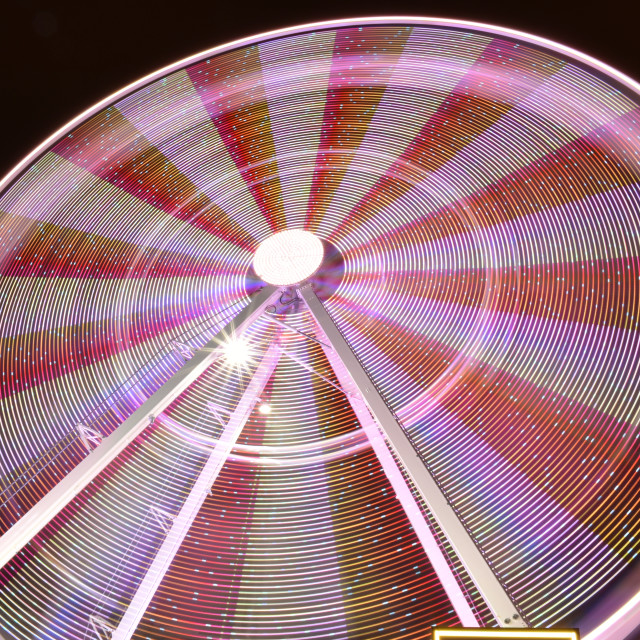 """""""Giant Wheel Close up Lights at Night"""" stock image"""