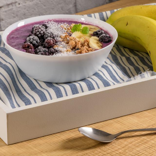 """Healthy breakfast bowl"" stock image"