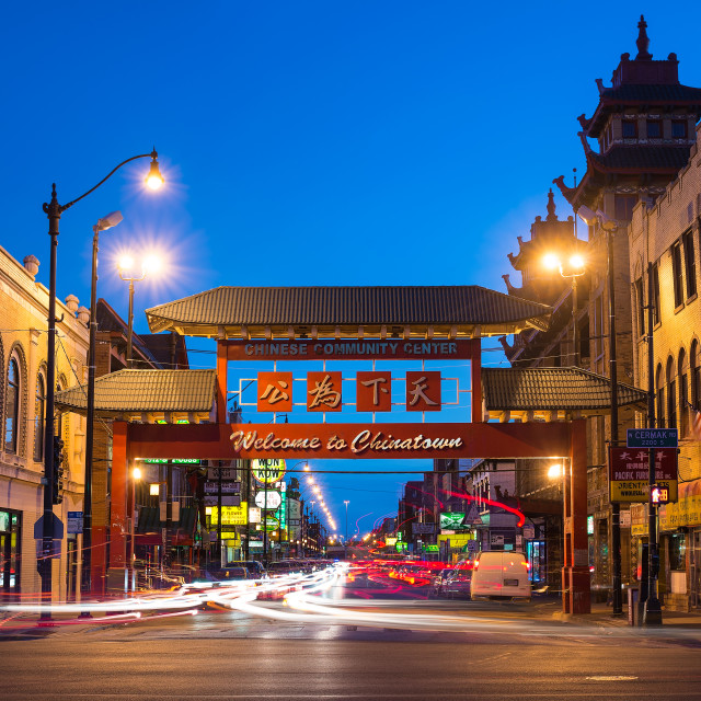 """Chinatown Chicago"" stock image"