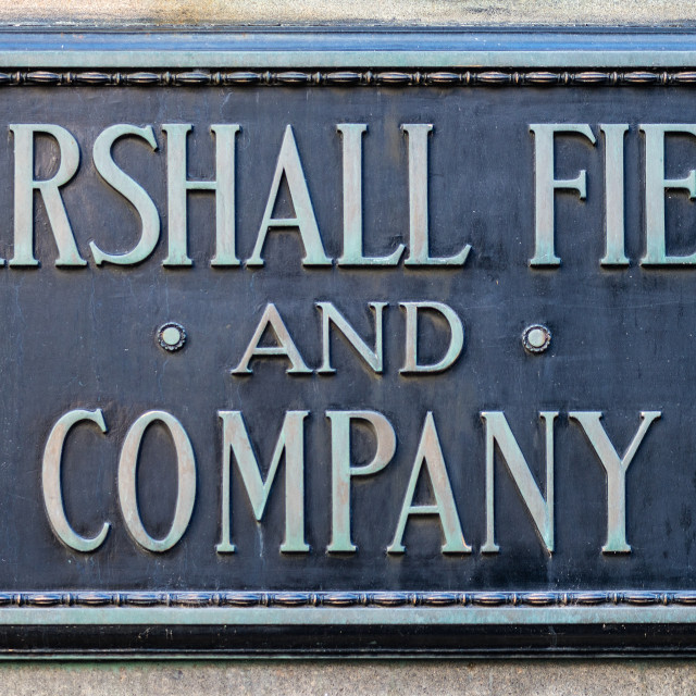 """Marshall Field Plaque"" stock image"