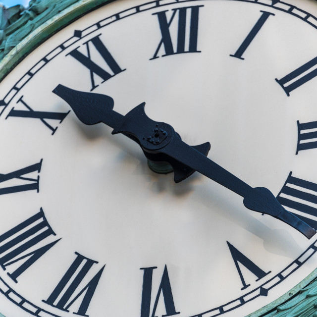 """Marshall Fields Clockface Chicago"" stock image"