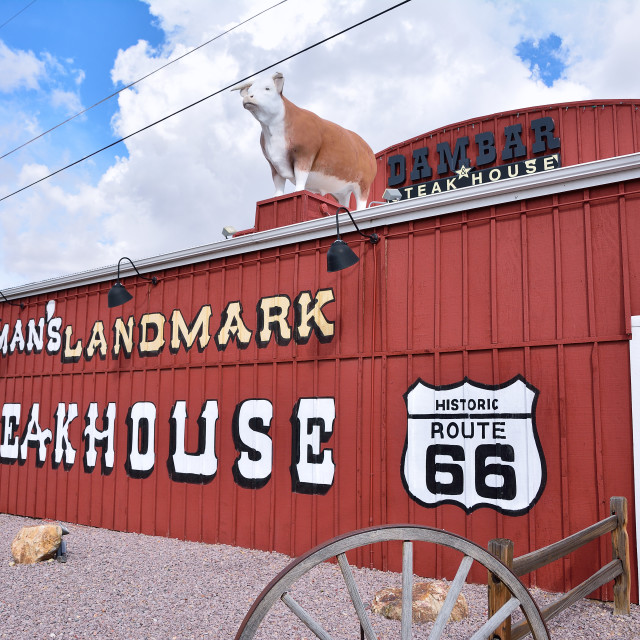 """Dambar steakhouse restaurant in Kingman."" stock image"