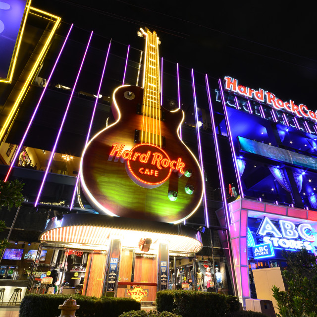 """""""The Hard Rock Cafe on the Strip."""" stock image"""