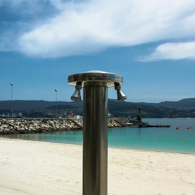 """""""Beach Shower"""" stock image"""