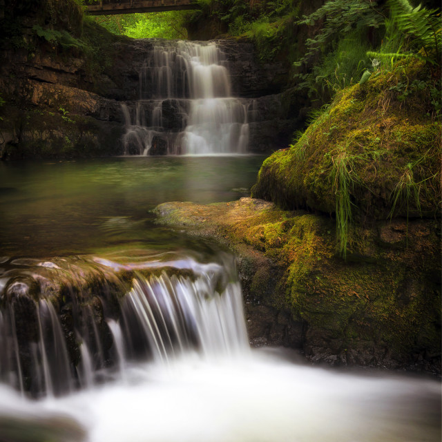 """The Sychryd Cascades"" stock image"