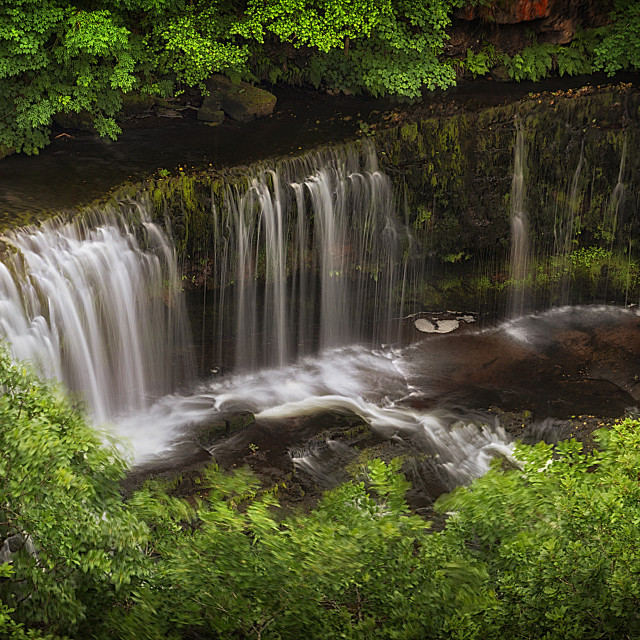 """Above the Sgwd Isaf Clun-gwyn Waterfall"" stock image"