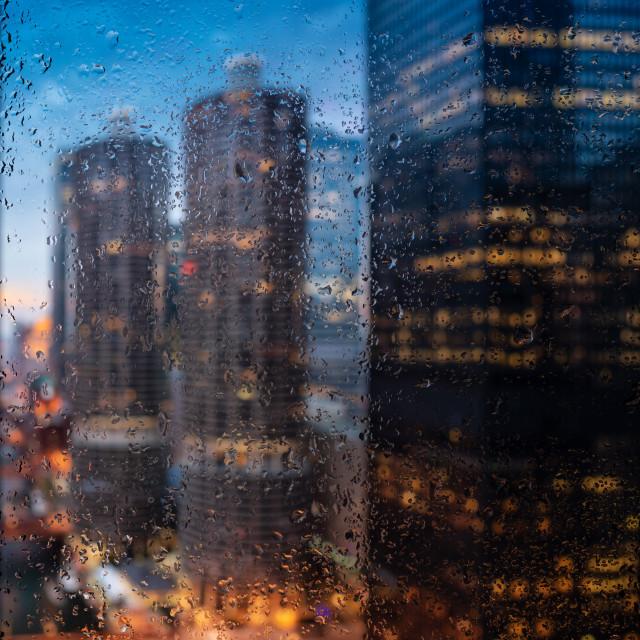"""Rainy Chicago River"" stock image"