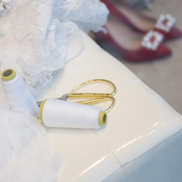 """Bridal store dress shop window"" stock image"