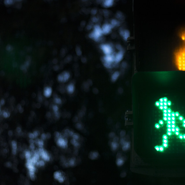 """Zebra pedestrian crossing light"" stock image"