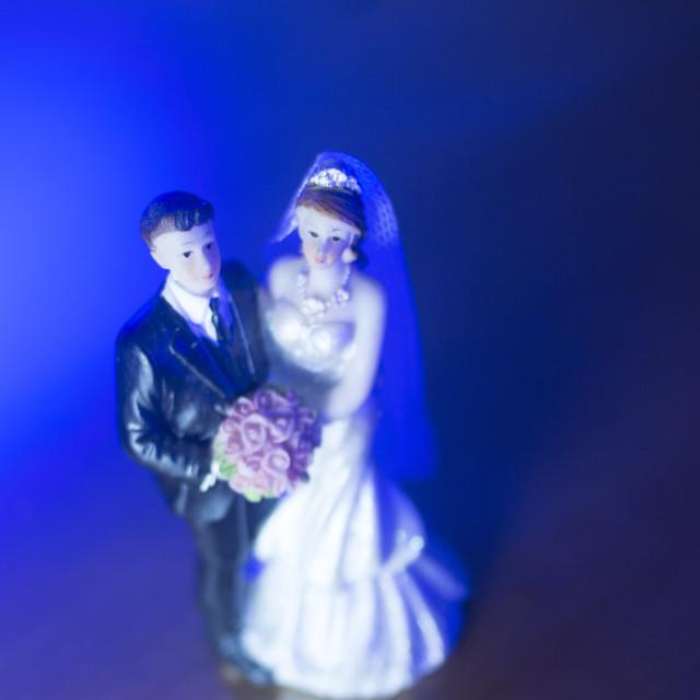 """Wedding couple marriage dolls"" stock image"
