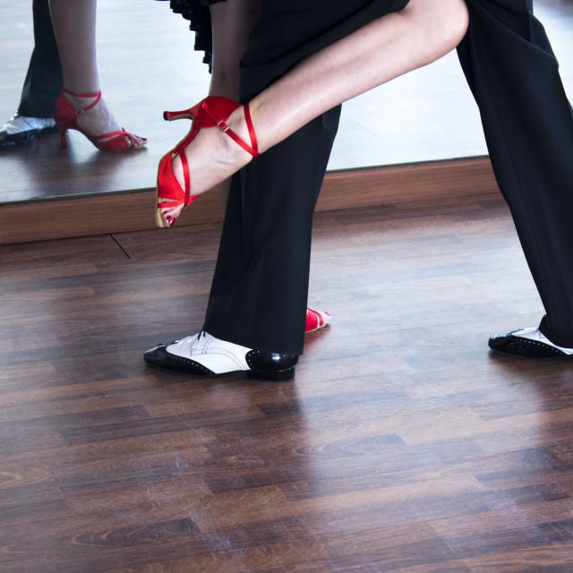 """Ballroom dance salsa dancers"" stock image"