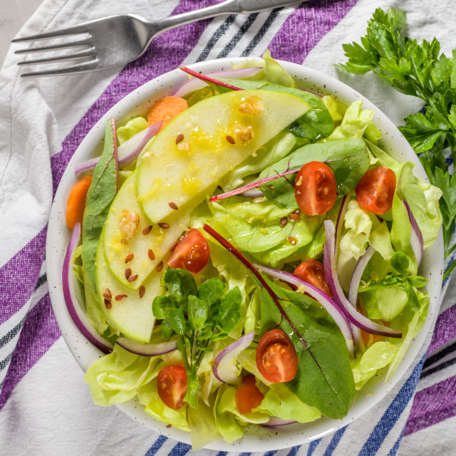 """""""Delicious vegetable salad"""" stock image"""