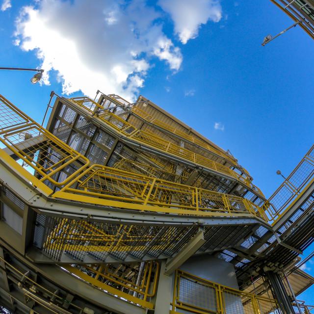 """industry structure steel metal arquiteture vertical parallel tubes"" stock image"